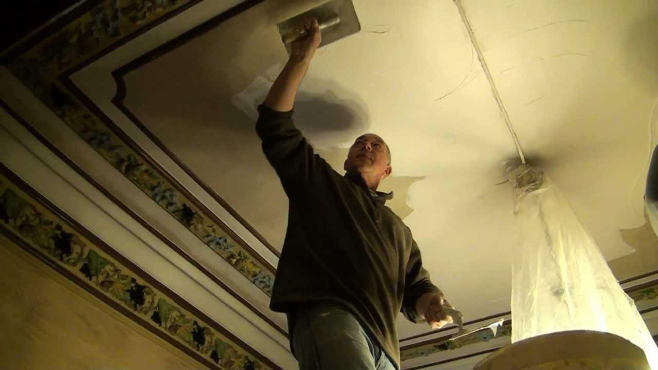 Plafond r paration de plafond avec resine hd gsm 0475 - Refaire un plafond abime ...