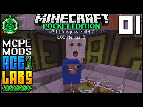 Minecraft: Pocket Edition Mods: Ace Labs E01 - 0.11.0 Mobs Ghasts, Magma Cubes and Cave Spiders!