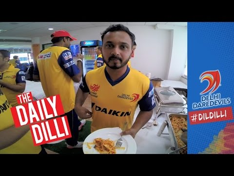 It's pre-training feeding time in the #DilliBoys dressing room |  THE DAILY #DILDILLI 31