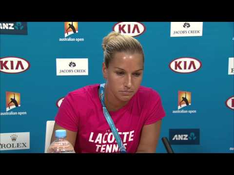 Dominika Cibulkova press conference (QF) - Australian Open 2015