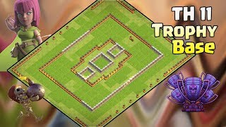 Th11 Legend Trophy Base With Replay | Anti 2 star base/Anti queen walk bowler witch/Anti valkyrie 6