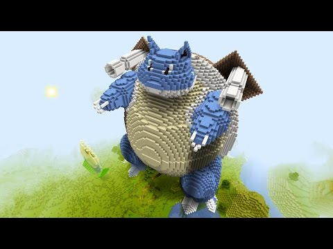Minecraft vs Pokemon go | GIGA BLASTOISE!! | (PvZ/Pokego Land)