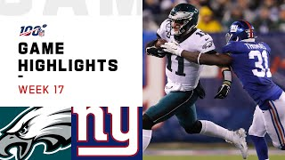 Eagles vs. Giants Week 17 Highlights | NFL 2019