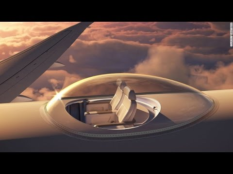 Dazzling new airplane patent offers seats on top of aircraft