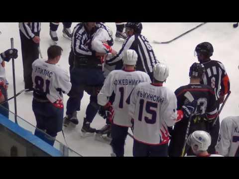 хоккей драка ВХЛ драка #54