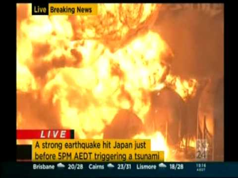 oil refinery explosion. #japan March 11 2011