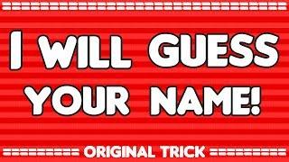 I will guess your NAME! - Original Math Trick - (2017)