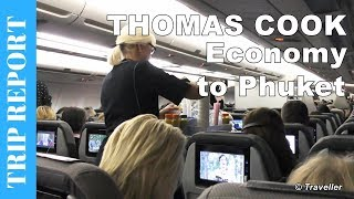 Thomas Cook Economy Class on Airbus A330 - LONG HAUL FLIGHT CPH to Phuket - Air Travel Video
