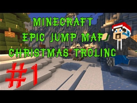 Minecraft: Epic Jump Map Christmas Trolling: Part 1 - RUDOLF! (Christmas Special