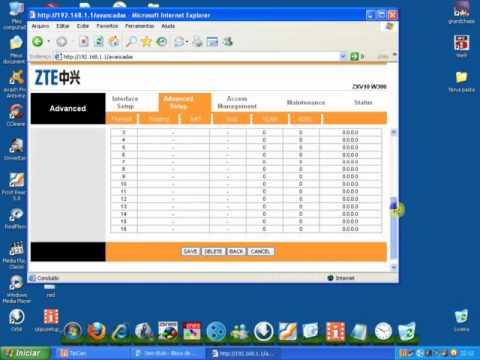 Abrir Porta 7845 Zbattle modem ZTE W300 Speedy