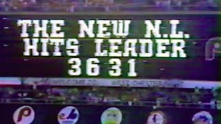 7/10/81 Pete Rose NL All-Time Hits Leader 3631 Cardinals 7 v Phillies 3 Vet Stadium