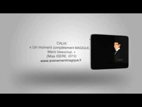 Magicien Lyonnais Calix LYON: 06 77 59 63 77 www.evenementmagique.fr magie d'entreprise, mariage