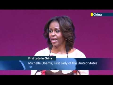 Michelle Obama in China: US First Lady speaks to students at Peking University