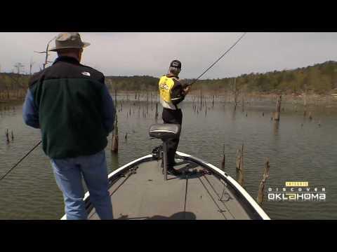 Discover oklahoma mcgee creek bass fishing youtube for Lifetime fishing license ok