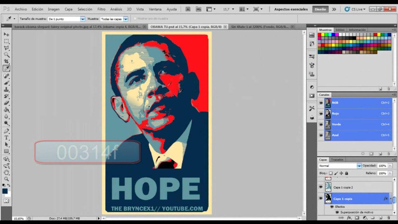 Obama Hope Poster Generator Photoshop Photoshop Cs5// Obama Hope en