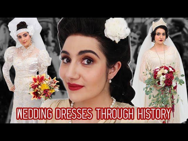 I Tried Wedding Dresses Through History thumbnail
