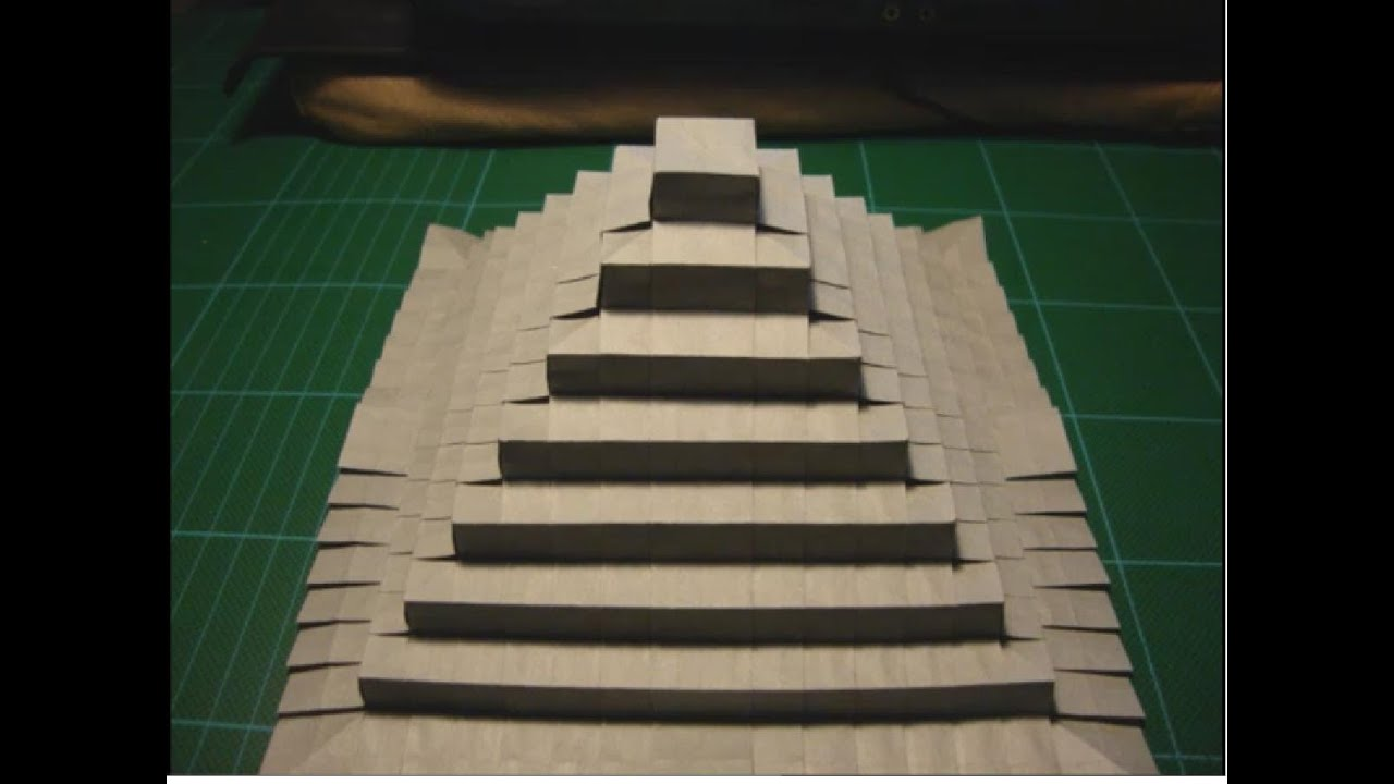 how to make an egyptian pyramid out of paper