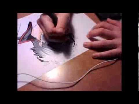 Gintama Speed Draw Gintoki Sakata Fude pen G pen and Copic