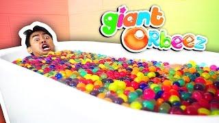 GIANT ORBEEZ BATH CHALLENGE!