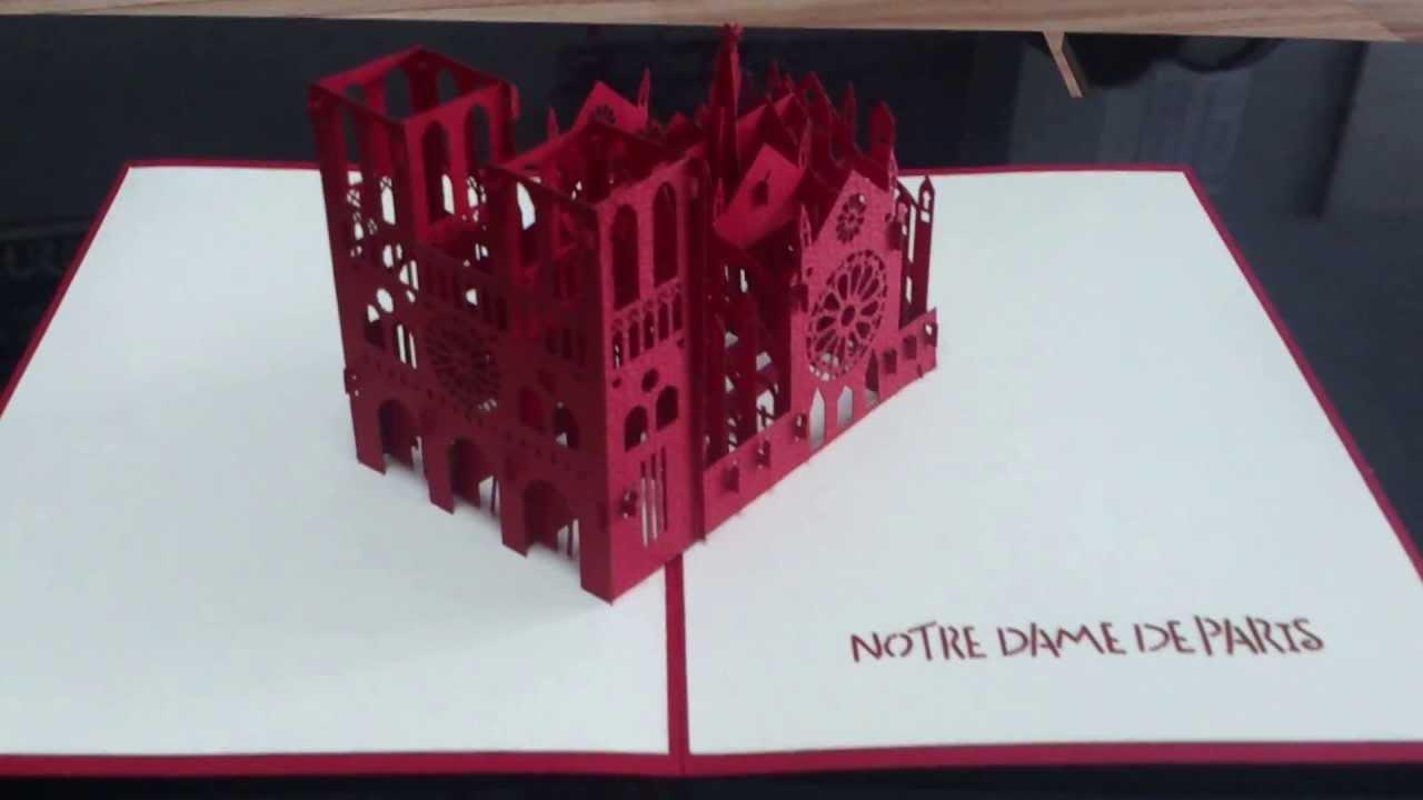 building pop up card paper art viet co ltd youtube. Black Bedroom Furniture Sets. Home Design Ideas