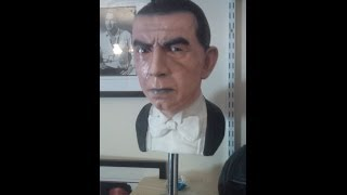 Speed painting 1:1 life size Bela Lugosi Bust with airbrush