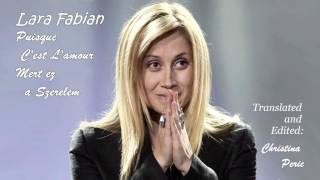 Watch Lara Fabian Puisque Cest Lamour video