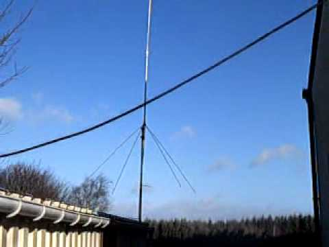 hexbeam antenna in the wind 100km/h from F4FEP