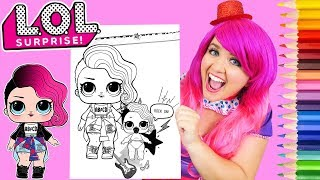 Coloring LOL Surprise Dolls Rocker & Lil Sister Coloring Page Prismacolor Pencils | KiMMi THE CLOWN
