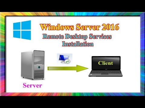 how to install and configure remote desktop services in windows server 2016