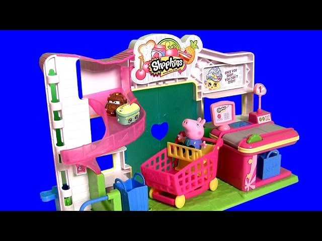 Shopkins Small Mart Store Peppa Pig at Supermarket with Disney Princess Sofia the First Play Doh