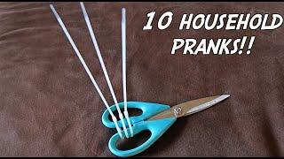 10 HOUSEHOLD PRANKS - HOW TO PRANK
