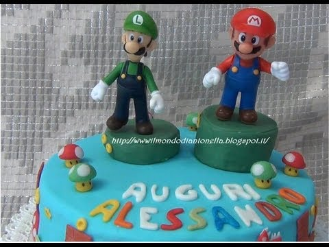 Tutorial Torta Super Mario . Super Mario Birthday Cake & Fondant