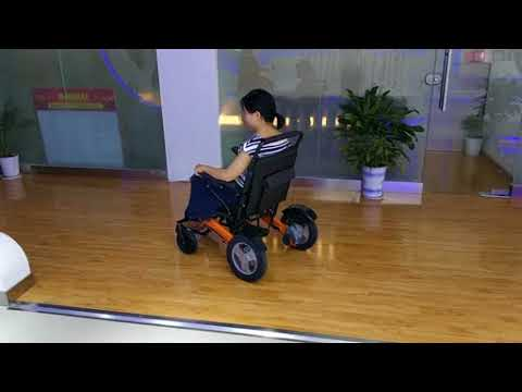 New fashion design electric foldable wheelchair D12 driving 行驶