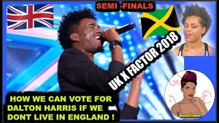 Dalton Harris (how to vote if you don't live in the UK)
