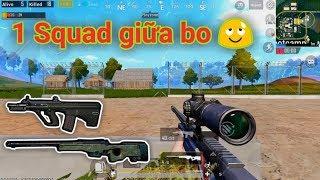 PUBG Mobile - Khi Bạn Đối Mặt 1 Team Trong Bo Và Cách Xử Lý | Combo AUG + AWM Solo Squad