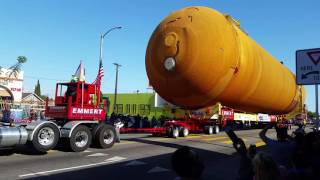 NASA Fuel Tank Passes by The Streets of Los Angeles