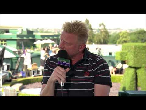 Boris Becker visits the Live @ Wimbledon studio