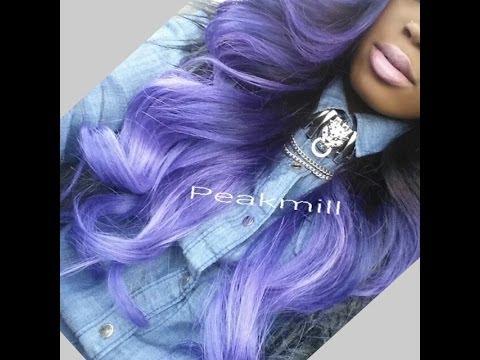 Lavender/Purple Ombre Hair Color Tutorial + Maintenace. FAQs. & Turquoise/Blue Ombre Update