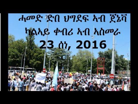 Successful demonstration by Eritrean justice seekers in Geneva, 23 JUNE 2016