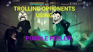 Shadow Fight 3 Trolling Opponents with Purple Peeler