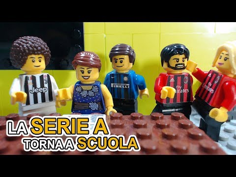 LA SERIE A TORNA A SCUOLA  • parodia Gli Autogol  • My Funny Games Builder • Lego Calcio