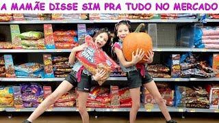 A MAMÃE DISSE SIM PRA TUDO NO MERCADO DOS ESTADOS UNIDOS ♥ Mom said yes to everything in the market