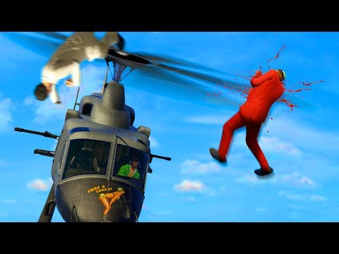 MILE HIGH DEATHRUNNERS vs. HELICOPTERS! (GTA 5 Funny Moments)