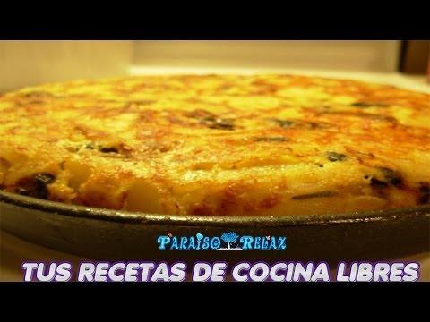 TORTILLA DE PATATAS Y VERDURAS, RECETAS DE COCINA FÁCILES, ECONÓMICAS Y CASERAS, DIETA MEDITERRANEA