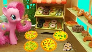 MY Little Pony Pinkie Works at Calico Critters Brick Oven Bakery with Pizza & Donuts