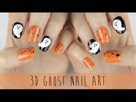 DIY 3D GHOST NAILS!!!