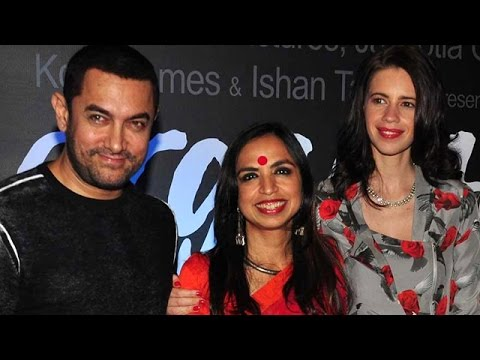 Aamir Khan and Kalki Koechlin at Magarita With A Straw Trailer Launch
