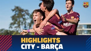[HIGHLIGHTS] UEFA YOUTH LEAGUE: FC Barcelona - Manchester City (5-4)