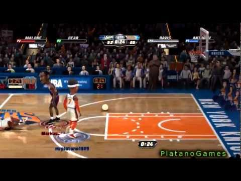 Utah Jazz vs New York Knicks - Baron Davis + Carmelo Anthony - NBA Jam 2k13 Online - HD