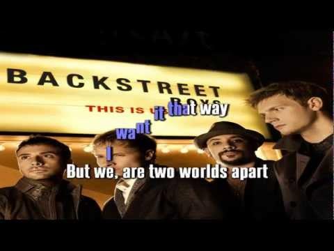 BACKSTREET BOYS - I WANT IT THAT WAY karaoke instrumental lyrics